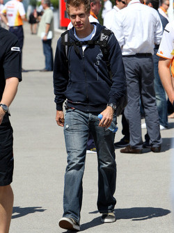A big meeting of all Team Principles and all F1 drivers is held in the Toyota motorhome: Sebastian Vettel, Red Bull Racing