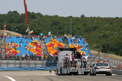 Driver parade, empty grand stands