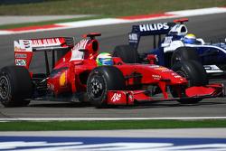 Felipe Massa, Scuderia Ferrari and Nico Rosberg, Williams F1 Team