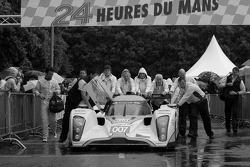 #007 AMR Eastern Europe Lola Aston Martin exits scrutineering