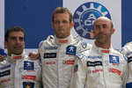 LMP1 podium: class an overall winners Marc Gene, Alexander Wurz and David Brabham