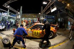 Pit stop for #75 Endurance Asia Team Porsche 911 GT3 RSR: Darryl O'Young, Philippe Hesnault, Plamen Kralev