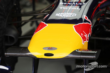 The new front wing of Sebastian Vettel, Red Bull Racing