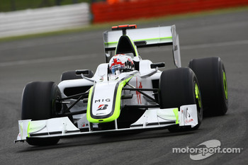 Jenson Button, Brawn GP / wave his hand