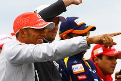 Lewis Hamilton, McLaren Mercedes and Jenson Button, Brawn GP
