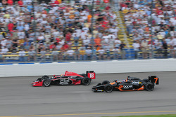Justin Wilson, Dale Coyne Racing and Danica Patrick, Andretti Green Racing