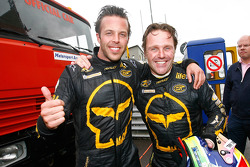 Race winners Anthony Kumpen and Mike Hezemans celebrate