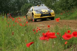 Evgeny Novikov and Dmitry Chumak, Citroen C4 WRC, Citroen Junior Team