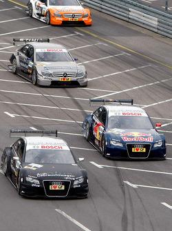 Timo Scheider, Audi Sport Team Abt Audi A4 DTM and Mattias Ekström, Audi Sport Team Abt Audi A4 DTM