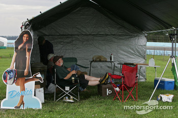 Fans get their camp site ready