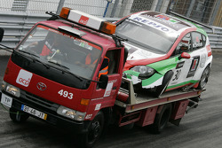 Car of Mehdi Bennani, Exagon Engineering, Seat Leon 2.0 after the crash
