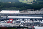 Aerial views of the Nurburgring and the new development and facilities around it and the F1 paddock