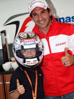 The new helmet design for Timo Glock, Toyota F1 Team, designed by 6 year old Tom Luca Hoffman