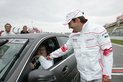 Norbert Haug with Timo Glock, Toyota F1 Team