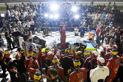 Victory lane: race winner Mark Martin, Hendrick Motorsports Chevrolet celebrates