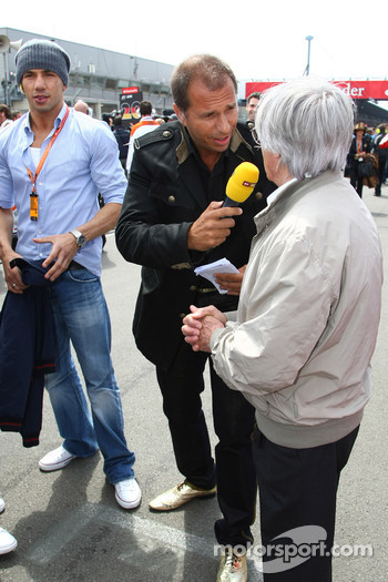 Kai Ebel and Bernie Ecclestone, President and CEO of Formula One Management