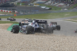 Kazuki Nakajima, Williams F1 Team in the gravel