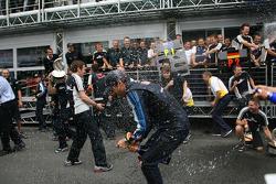Race winner Mark Webber, Red Bull Racing celebrates with champagne