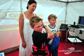 Mika Hakkinen and his son Hugo karting, Erja Hakkinen ex wife