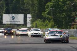 Pace laps: #87 Farnbacher Loles Racing Porsche 911 GT3 RSR: Bryce Miller, Wolf Henzler