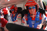 Race faces on, Marcus Gronholm and co-driverTimo Alanne just before the start of their run up Pikes Peak