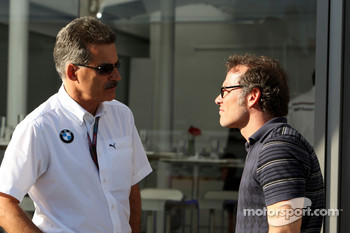 Dr. Mario Theissen, BMW Sauber F1 Team, BMW Motorsport Director, and Jacques Villeneuve