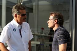 Dr. Mario Theissen, BMW Sauber F1 Team, BMW Motorsport Director, and Jacques Villeneuve