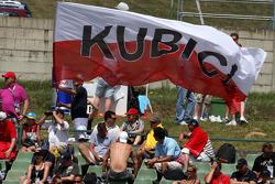 Fans of Robert Kubica, BMW Sauber F1 Team