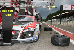Audi R8 LMS waits in the pitlane