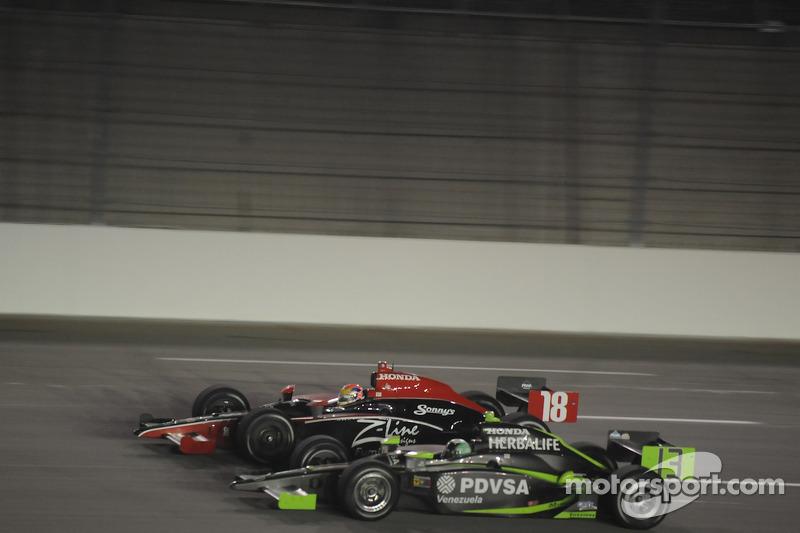 Justin Wilson, Dale Coyne Racing runs with Ernesto Viso, HVM Racing