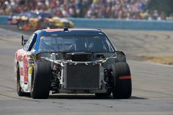 Dale Earnhardt Jr., Hendrick Motorsports Chevrolet with major damage