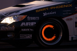 Glowing brakes on the #111 Subaru Road Racing Team Subaru Legacy: Andrew Aquilante, Kristian Skavnes