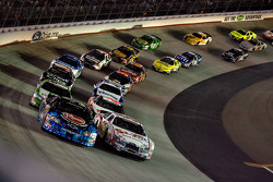 Kevin Harvick and Carl Edwards lead the field