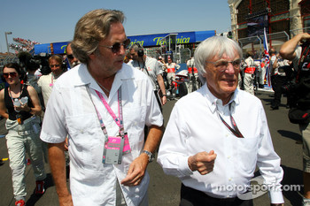 Eric Clapton Singer and Bernie Ecclestone, President and CEO of Formula One Management