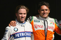 Nick Heidfeld, BMW Sauber F1 Team and Giancarlo Fisichella, Force India F1 Team