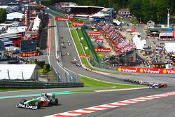 Start, Giancarlo Fisichella, Force India F1 Team, VJM-02 leads