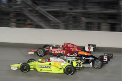 Scott Dixon, Target Chip Ganassi Racing; Mario Moreas, KV Racing Technology; and Ed Carpenter, Vision Racing