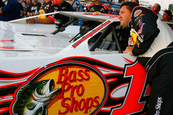 Tony Stewart, driver of the #14 Bass Pro Shops Chevrolet prepares to qualify