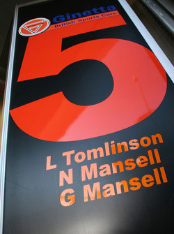 #5 Team LNT Ginetta-Zytek GZ09S pit sign