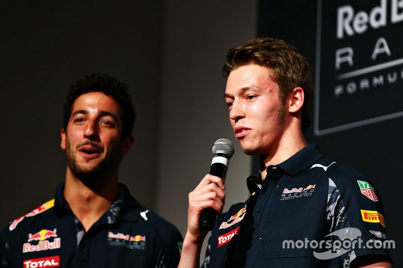 Daniil Kvyat and Daniel Ricciardo (Red Bull Racing)