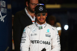 Polesitter Lewis Hamilton, Mercedes AMG F1 Team in parc ferme