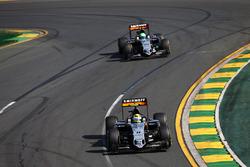 Sergio Perez, Sahara Force India F1 VJM09 and team mate Nico Hulkenberg, Sahara Force India F1 VJM09
