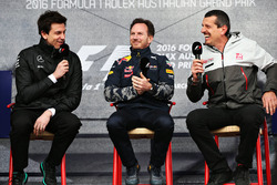 Toto Wolff, Mercedes GP Executive Director,  Christian Horner, Red Bull Racing Team Principal and Guenther Steiner, Haas F1 Team Principal