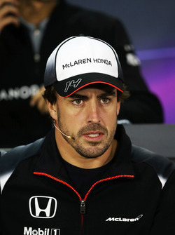 Fernando Alonso, McLaren in the FIA Press Conference