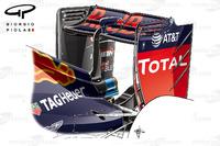 Formula 1 Foto - Red Bull RB12 l'ala posteriore portata a Sochi
