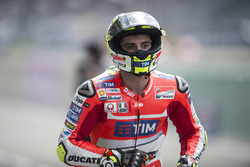 Andrea Iannone, Ducati Team after falling during qualifying