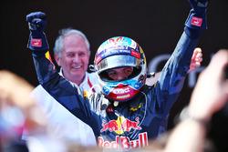 Sieger Max Verstappen, Red Bull Racing feiert im Parc Ferme