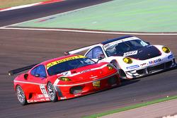#77 BMS Scuderia Italia Ferrari F430: Matteo Malucelli, Paolo Ruberti, #60 Prospeed Competition Porsche 911 GT3 RSR: Emmanuel Collard, Richard Westbrook