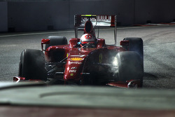 Kimi Raikkonen, Scuderia Ferrari runs wide