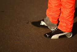 Racing shoes of Allan Simonsen